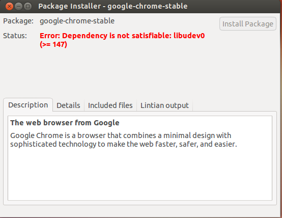 Google chrome ubuntu 13.04