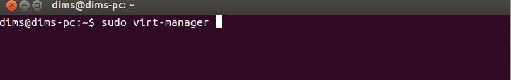 Запуск KVM  в Ubuntu