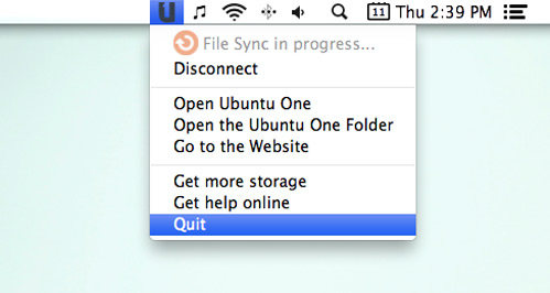 Ubuntu One для Mac