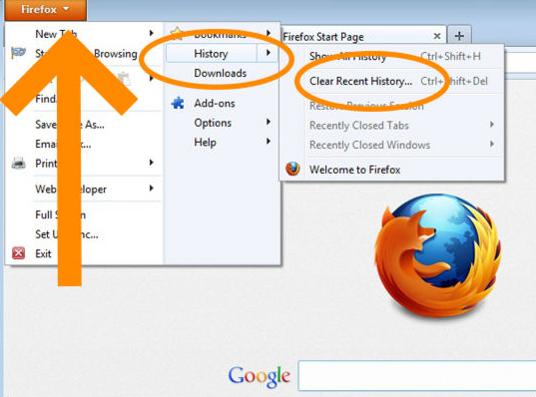 Как очистить кэш браузера Мазила Firefox