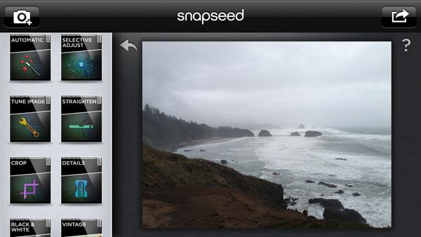 Фото приложения для iPhone Snapseed