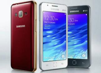 Samsung Z1 - бюджетный смартфон с Tizen OS и AMOLED дисплеем